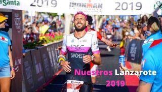David Sánchez Calixto entrando a meta en Ironman Lanzarote 2019